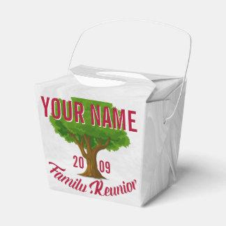 Reunión de familia personalizada árbol animado caja de regalos