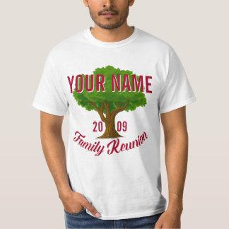 Reunión de familia personalizada árbol animado camiseta
