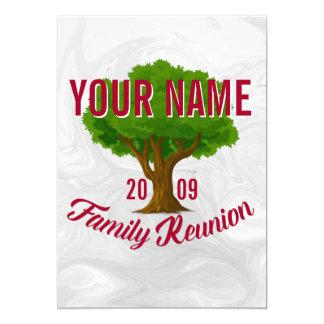 Reunión de familia personalizada árbol animado invitación 12,7 x 17,8 cm