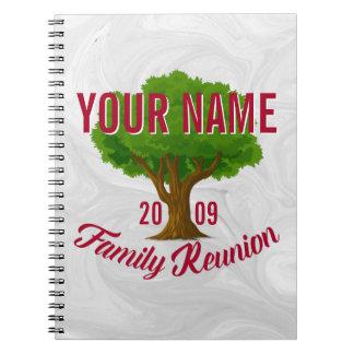 Reunión de familia personalizada árbol animado libro de apuntes