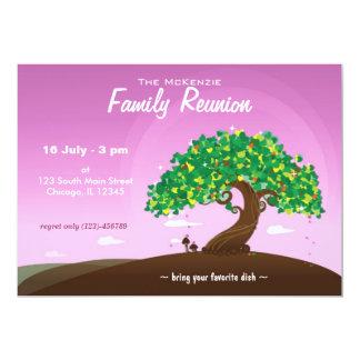 Reunión de familia (púrpura) invitación 12,7 x 17,8 cm