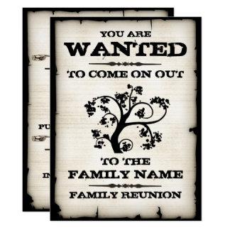 Reunión de familia querida invitación 16,5 x 22,2 cm