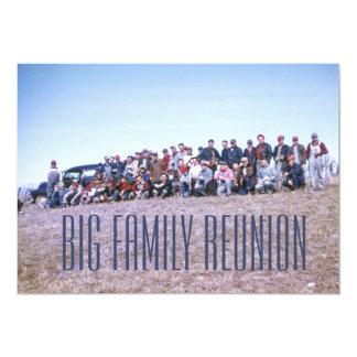 Reunión de familia retra impresionante invitación 12,7 x 17,8 cm