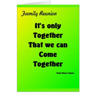 Reunión de familia tarjeta