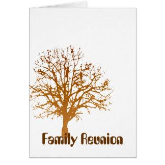 Reunión de familia tarjeta de felicitación
