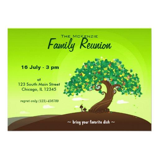 Reunión de familia (verde) anuncio personalizado