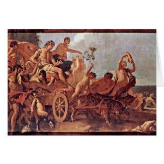 Reunión del Bacchus y de Ariadne de Ricci Tarjeta De Felicitación
