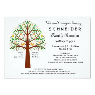Reunión, fiesta o acontecimiento de familia del invitación 12,7 x 17,8 cm