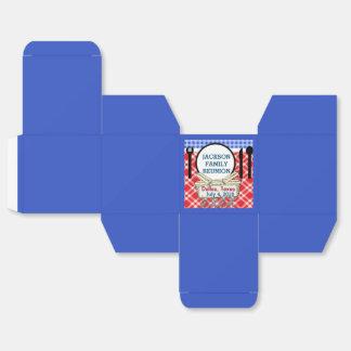 Reunión - plantilla de la caja cuadrada de RWB Cajas Para Regalos De Boda