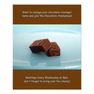 Reuniones anónimas de Chocoholics Tarjetón
