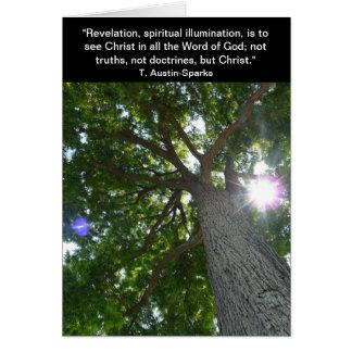 Revelación… Notecard Tarjeta Pequeña