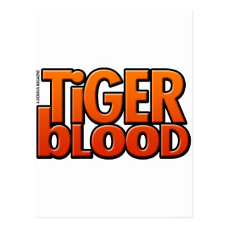 Revista de la sangre del tigre postal