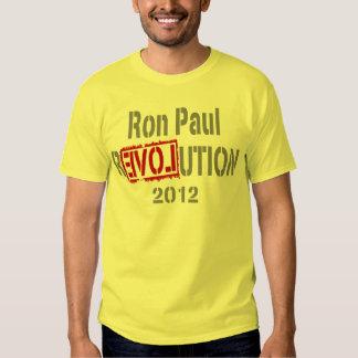 Revolución 2012 de Ron Paul Camisetas