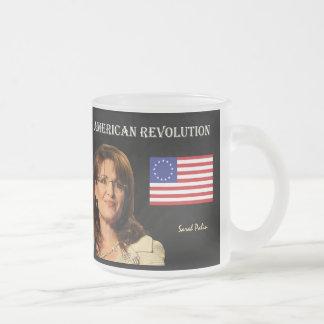 Revolución americana taza de cristal esmerilado