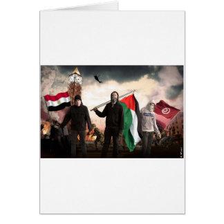 REVOLUCIÓN ÁRABE 2011 TARJETA DE FELICITACIÓN