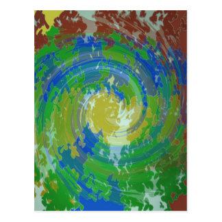 Revolución CÓSMICA de la evolución: Verde del arte Postales