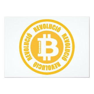 Revolución de Bitcoin (versión catalana) Invitaciones Personalizada