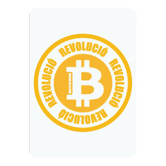 Revolución de Bitcoin (versión catalana) Invitación 12,7 X 17,8 Cm
