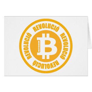Revolución de Bitcoin (versión catalana) Tarjeta De Felicitación