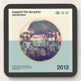 Revolución de la fiesta del té posavasos