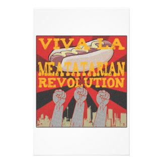 Revolución de Meatatarian del la de Viva Papeleria De Diseño