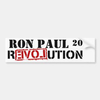 REVOLUCIÓN DE RON PAUL 2012 PEGATINA DE PARACHOQUE