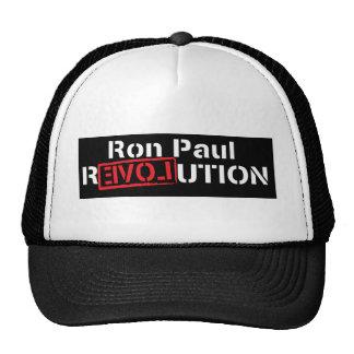 revolución de Ron Paul en camisa oscura Gorro De Camionero