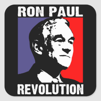 Revolución de Ron Paul Pegatina Cuadrada