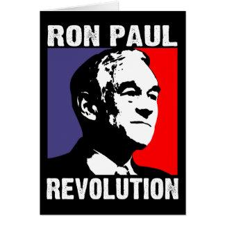 Revolución de Ron Paul Tarjeta De Felicitación
