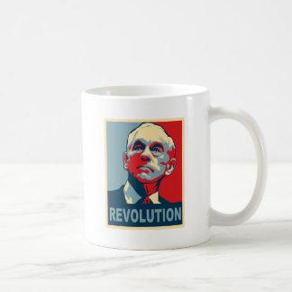 Revolución de Ron Paul Taza Básica Blanca