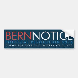 Revolución política 2016 del aviso de Berna Pegatina Para Coche