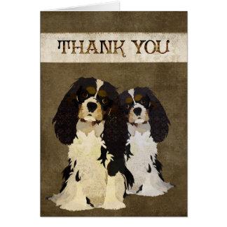 Rey arrogante Dogs Thank You Card Tarjeta De Felicitación