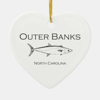 Rey caballa de Outer Banks Carolina del Norte Adorno De Cerámica