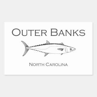 Rey caballa de Outer Banks Carolina del Norte Pegatina Rectangular