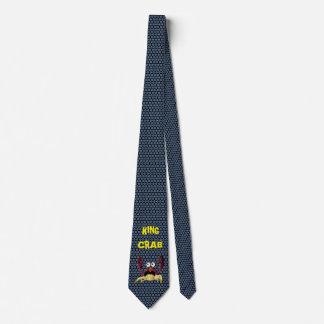 Rey cangrejo del dibujo animado corbatas personalizadas
