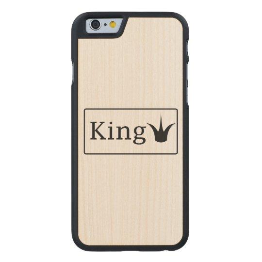 Rey Case Funda Fina De Arce Para iPhone 6 De Carved