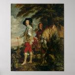 Rey Charles I de Inglaterra hacia fuera que caza,  Impresiones