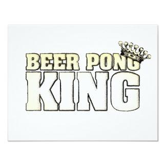 Rey clásico de Pong de la cerveza Invitación 10,8 X 13,9 Cm