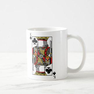 Rey de clubs - añada su imagen taza de café