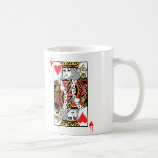 Rey de corazones taza de café