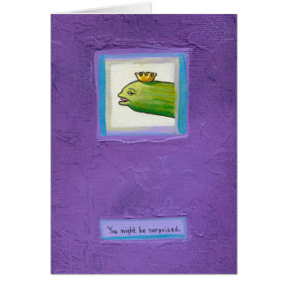 ¿Rey de la anguila de la salmuera del poeta? arte Tarjeta