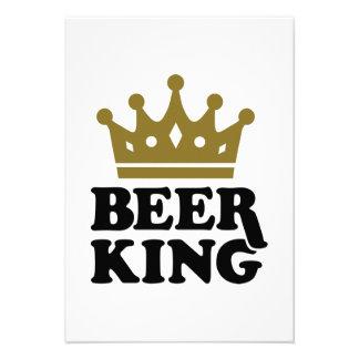 Rey de la cerveza invitacion personal