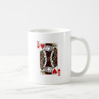 Rey de la colección de los corazones taza de café