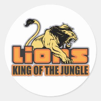 Rey de la selva pegatinas redondas