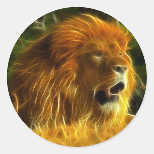 Rey de la selva etiqueta redonda