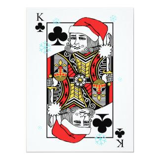 Rey de las Felices Navidad de clubs Invitación 16,5 X 22,2 Cm
