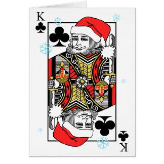 Rey de las Felices Navidad de clubs Tarjeta De Felicitación
