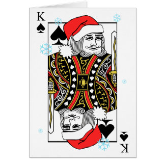 Rey de las Felices Navidad de espadas Tarjeta De Felicitación