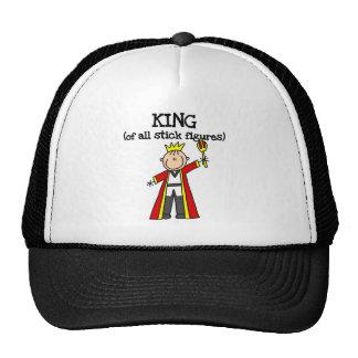 Rey de las figuras del palillo gorros bordados