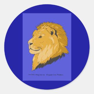 Rey de leones pegatinas redondas